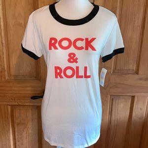 NWT M LLR Rock & Roll Liv Tee
